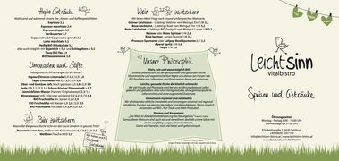 A menu of Leichtsinn
