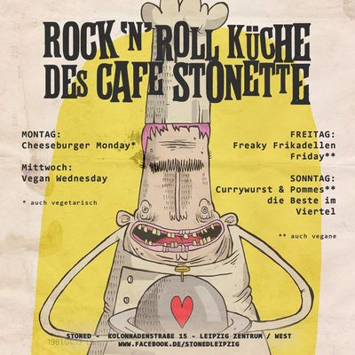 A photo of Rock'N'Roll Küche des Café Stonette