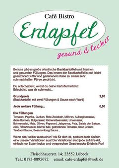A menu of Café Erdapfel