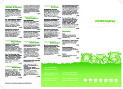 A menu of Vegefarm