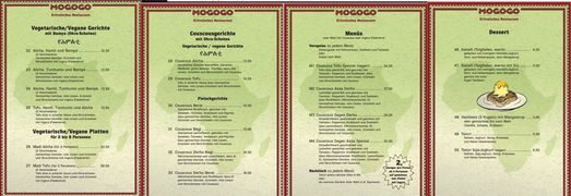 A menu of Mogogo