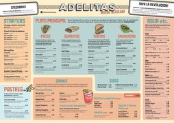 A menu of Adelitas