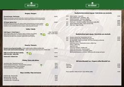A menu of Vegan's Prague