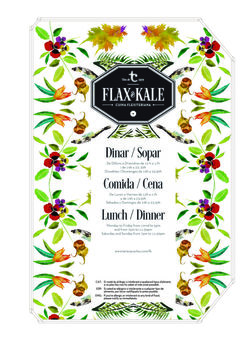 A menu of Flax & Kale