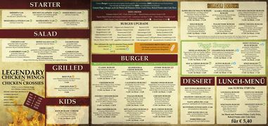A menu of Rigg's Burger