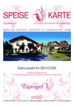 A menu of Eisvogel