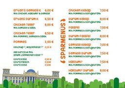A menu of Ertan's Gemüse Kebap