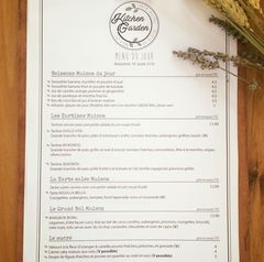 A menu of Kitchen Garden