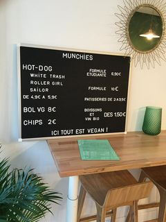 A menu of Munchies