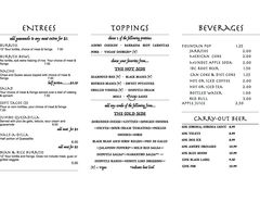 A menu of Agave Burrito Bar and Tequilaria