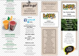 A menu of DaBoro's