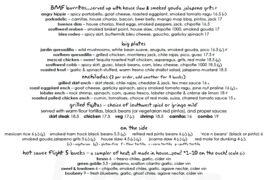 A menu of Lopez