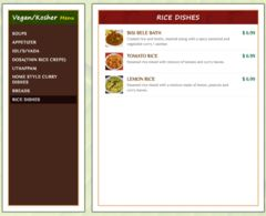 A menu of Chutneys