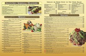 A menu of Healthy Garden Café