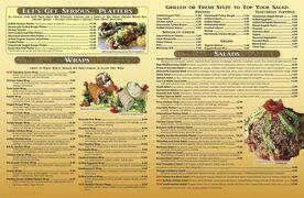A menu of Healthy Garden Café