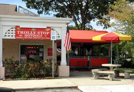 A photo of Trolly Stop Hotdogs