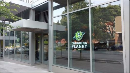 A photo of Laughing Planet Café, SW 4th Ave