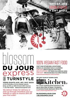 A menu of Blossom Du Jour Express, 8th Avenue
