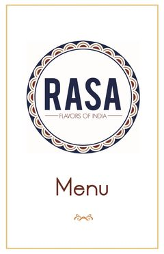 A menu of Rasa Restaurant