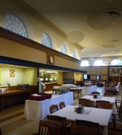 A photo of Sharpe Refectory Dining Hall at Brown University