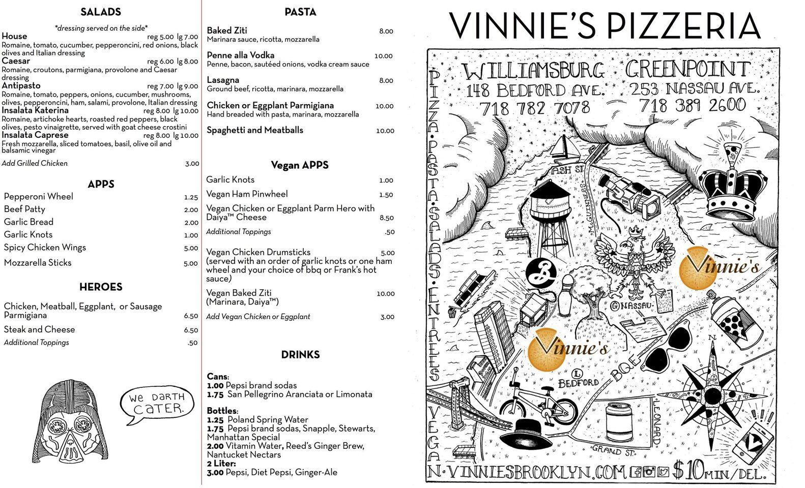 A photo of Vinnie's Pizzeria, Bedford Avenue