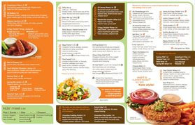 A menu of Veggie Grill