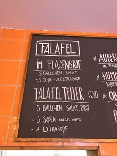 A menu of Vegi Stuttgart