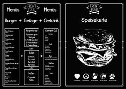 A menu of Front Food