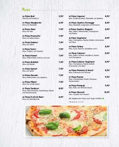 A menu of Trattoria & Pizzeria Pompeji