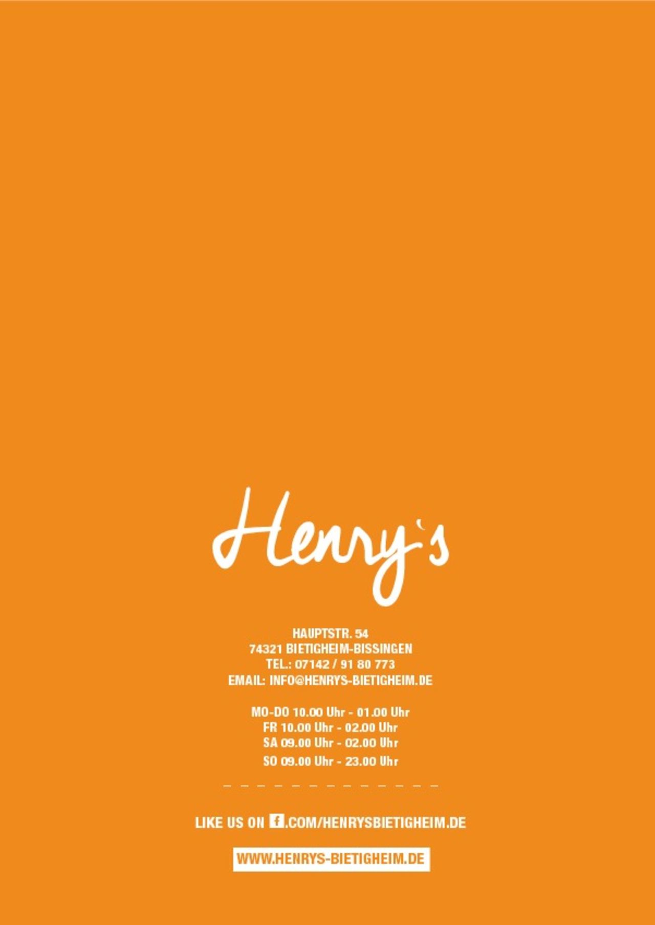 A photo of Henry's