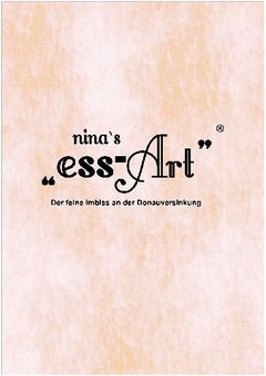 A menu of Nina's Ess Art