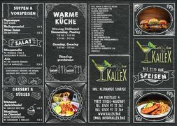 A menu of Kallex
