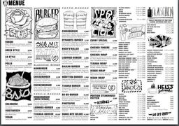 A menu of Rocknrollbar