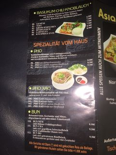 A menu of Asia Prinz