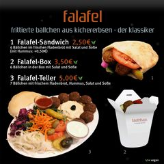 A menu of Falafelhaus