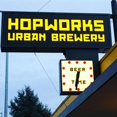 A photo of Hopworks Urban Brewery