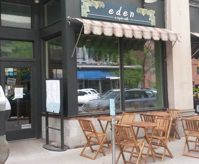 A photo of eden - a vegan café