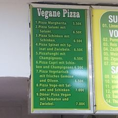 A menu of Goethe Döner