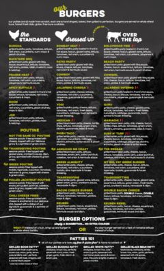 A menu of Boon Burger Café