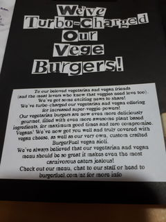 A menu of BurgerFuel, Mount Maunganui