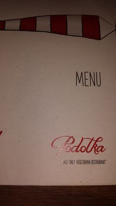 A menu of Podolka