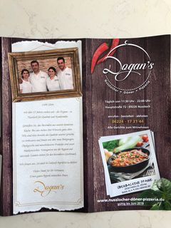A menu of Dogan's