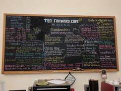 A menu of Ten Forward Café