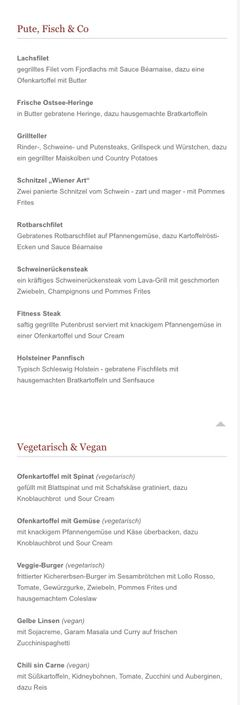 A menu of Steak- und Pfannkuchenhaus
