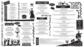A menu of Mount Social Club