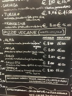 A menu of Pizzería L'Angelo