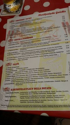 A menu of Peppers Regensburg