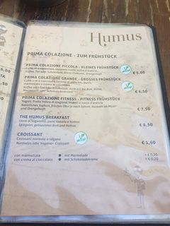 A menu of Humus Bistro