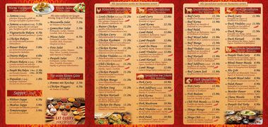 A menu of Punjabi