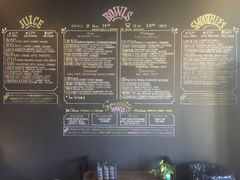 A menu of The Juice House